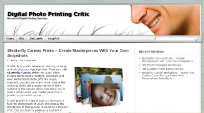 Digital Photo Printing Critic